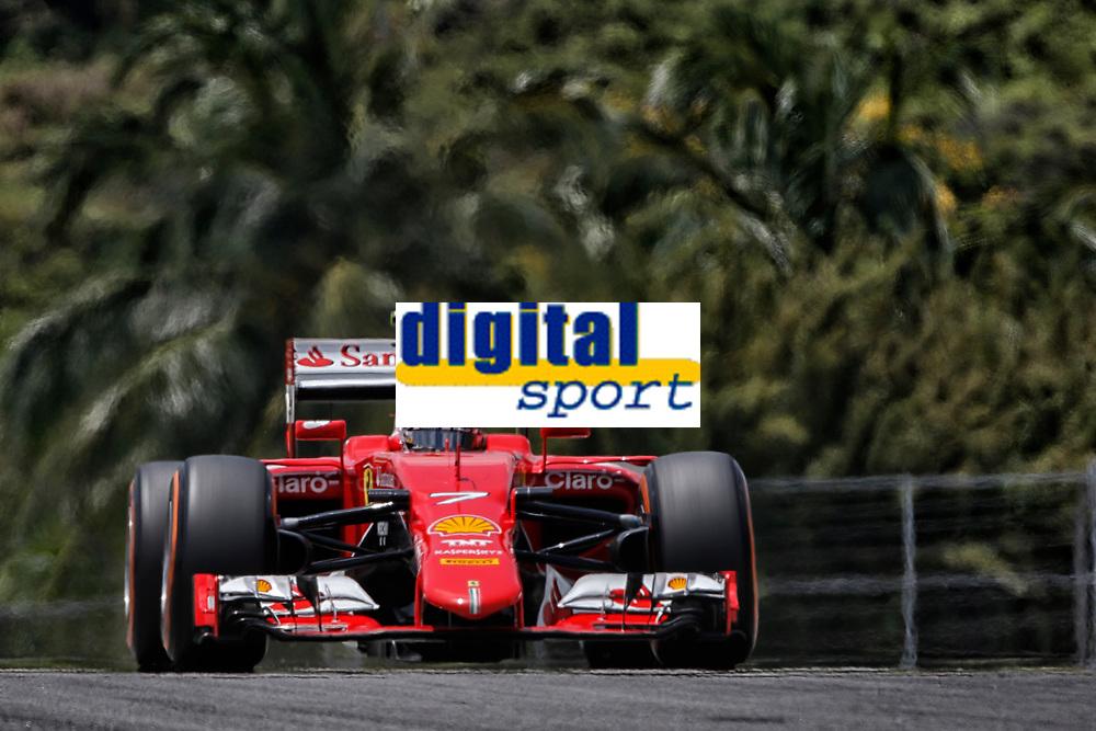 RAIKKONEN kimi (fin) ferrari sf15t action during 2015 Formula 1 FIA world championship, Malaysia Grand Prix, at Sepang from March 27th to 30th. Photo Francois Flamand / DPPI