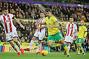 Norwich City midfielder Nelson Oliveira scores the fourth goal during the EFL Sky Bet Championship match between Norwich City and Brentford at Carrow Road, Norwich, England on 3 December 2016. Photo by Nigel Cole.