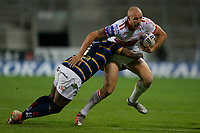 Rugby League - 2020 / 2021 Coral Challenge Cup - Quarter-final - Leeds Rhinos vs Hull Kingston Rovers<br /> <br /> Hull Kingston Rovers Dean Hadley is tackled, at the TW Stadium.