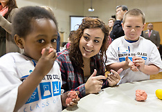 PLU Ed Students work with Kindergarteners