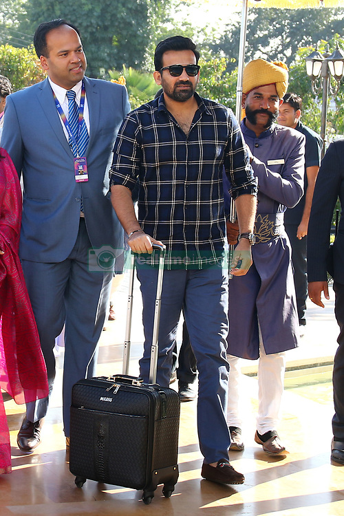 December 18, 2018 - Jaipur, Rajasthan, India - Mumbai Indians team mentor Zaheer Khan (C) arrives for the Indian Premier League 2019 auction in Jaipur on December 18, 2018, as teams prepare their player rosters ahead of the upcoming Twenty20 cricket tournament next year. The 2019 edition of the IPL -- one of the world's most-watched sporting events attracting the world's top stars -- is set to take place in April and May next year.(Photo By Vishal Bhatnagar/NurPhoto) (Credit Image: © Vishal Bhatnagar/NurPhoto via ZUMA Press)