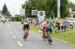 Benjamin Hill of Ljubljana Gusto Xaurum, Jon Bozic of Adria Mobil Cycling Team and Juraj Bellan of Dukla Banska Bystrica during 1st Stage of 25th Tour de Slovenie 2018 cycling race between Lendava and Murska Sobota (159 km), on June 13, 2018 in  Slovenia. Photo by Vid Ponikvar / Sportida