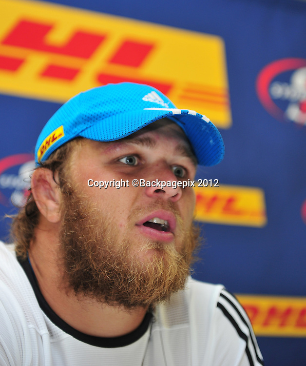 Duane Vermeulen (capt) of the Stormers during the 2015 Super Rugby training session for the Stormers at Bellville HPC, Cape Town on 12 February 2015 ©Ryan Wilkisky/BackpagePix
