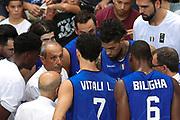 Ettore Messina time out , Nazionale italiana maschile senior - Trentino basket cup 2017 ITALIA - OLANDA ITALY HOLLAND, FIP 2017, Trento 30/07/2017 foto Ciamillo-Castoria/Bertani