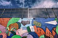 A mural along the United States-Mexico border wall  in Tijuana, Mexico on Tuesday, January 24, 2017.  Photo by Sandy Huffaker/Zuma Press