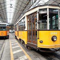 Milano, 2 Ottobre 2010: ATM, Azienda trasporti milanesi, apre al pubblico le porte dei depositi di tram.<br /> <br /> Milan, October 2: Milan's Transportation Company ATM opens his tram depots to the public in Milan, on October 2, 2010.