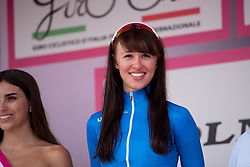 Kasia Niewiadoma is the best young rider in the UCI Women's WorldTour competition after the final stage of the Giro Rosa 2016 on 10th July 2016. A 104km road race starting and finishing in Verbania, Italy.