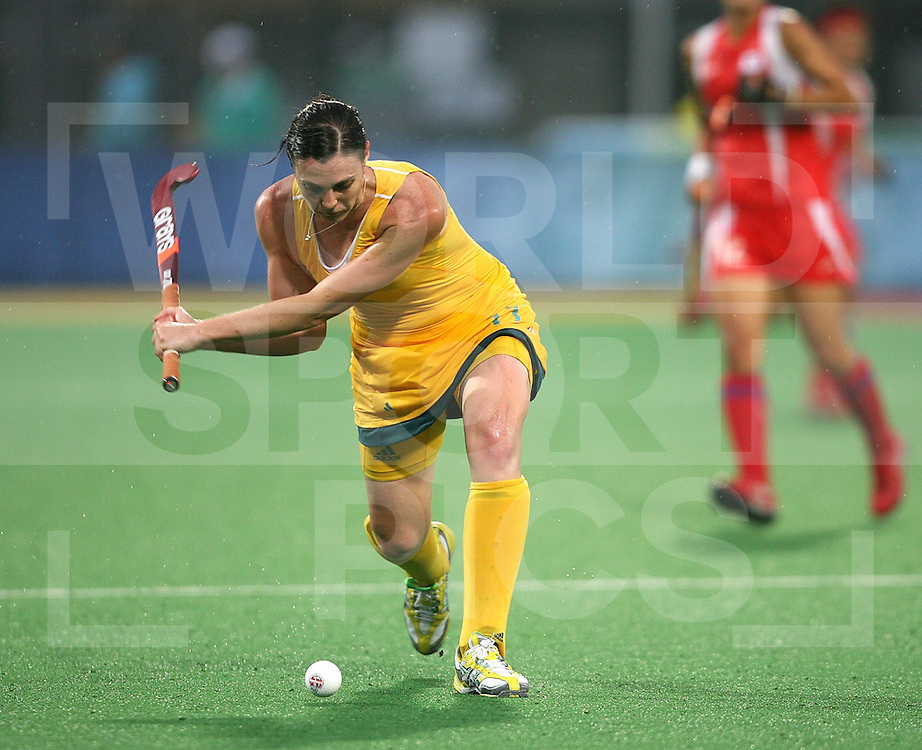 ..Halliday of Australia, Australia v Korea on Day 2 at the Beijing Olympic Green Hockey Stadium, 10-8-08  ..Photo: Grant Treeby/WSP