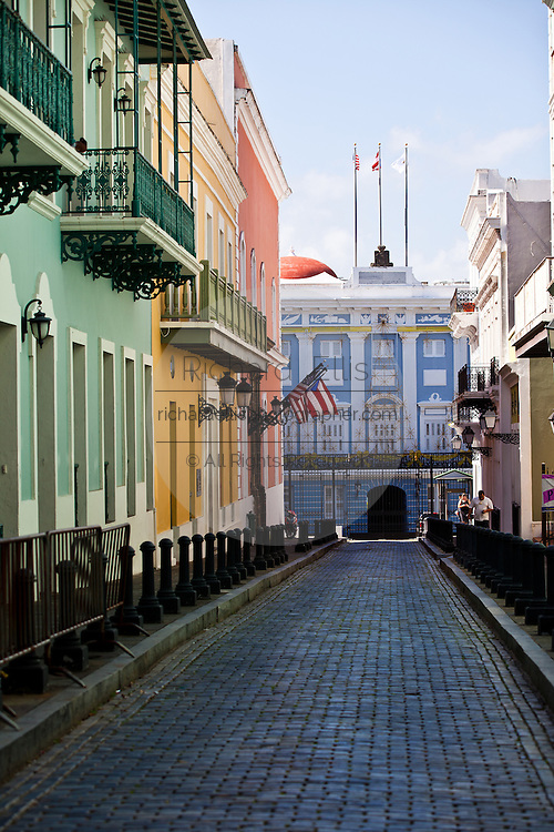 Entrance to La Fortaleza, the Governors Mansion in Old San Juan, Puerto Rico.