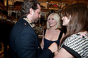 DEREK BLASBERG; KIRSTEN DUNST, Louis Vuitton openingof New Bond Street Maison. London. 25 May 2010. -DO NOT ARCHIVE-© Copyright Photograph by Dafydd Jones. 248 Clapham Rd. London SW9 0PZ. Tel 0207 820 0771. www.dafjones.com.