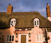 Thatched roof Sorrel Horse pub, Shottisham, Suffolk