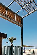 Santa Monica; CA; Annenberg Community Beach House, Santa Monica State Beach, public beach facility, Palisades Park