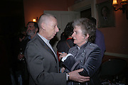 David Millinaric and Maggi Hambling, Maggi Hambling The Works, and Conversations with ?Andrew Lambirth. the Polish Club. 18 January 2006.  ONE TIME USE ONLY - DO NOT ARCHIVE  © Copyright Photograph by Dafydd Jones 66 Stockwell Park Rd. London SW9 0DA Tel 020 7733 0108 www.dafjones.com