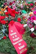 Berlin, Germany - 27.01.2016<br /> <br /> Memorial rally and wreath-laying ceremony on the Holocaust Remembrance Day at the Memorial to the Homosexuals Persecuted under the National Socialist Regime.<br /> <br /> Gedenkkundgebung und Kranzniederlegung während des Holocaust-Gedenktags am Denkmal für die im Nationalsozialismus verfolgten Homosexuellen in Berlin-Tiergarten.