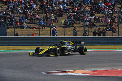November 3, 2019, Austin, TX, USA: AUSTIN, TX - NOVEMBER 03: Renault driver Nico Hulkenberg (27) of Germany enters turn 11 during the F1 - U.S. Grand Prix race at Circuit of The Americas on November 3, 2019 in Austin, Texas. (Photo by Ken Murray/Icon Sportswire) (Credit Image: © Ken Murray/Icon SMI via ZUMA Press)