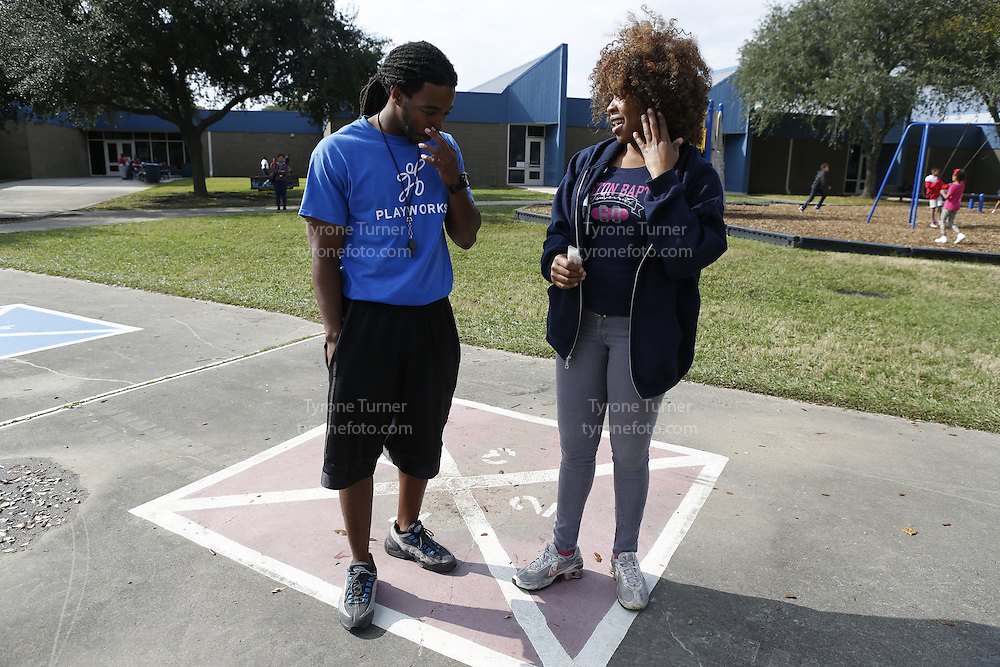 Playworks<br /> <br /> <br /> Cummings Elementary School<br /> 10455 S Kirkwood Rd, Houston, TX 77099<br /> <br /> 3rd grade recess <br /> Only two RWJF releases,  image #6535