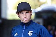 Daryl Janmaat of Watford FC arrives at the stadium, before the Premier League match between Swansea City and Watford at the Liberty Stadium, Swansea, Wales on 23 September 2017. Photo by Andrew Lewis.