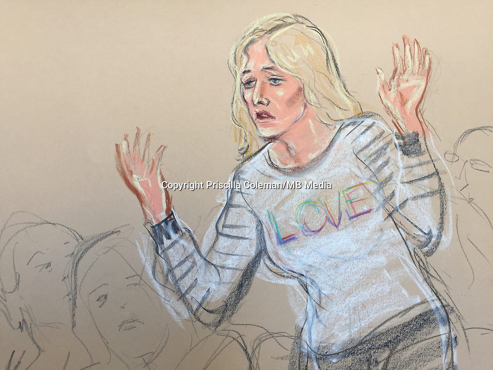 Damon Smith, 19, is charged with making an explosive device.<br /> <br /> Here in this court sketch, his mother yells from the public gallery that her son has asperges syndrome