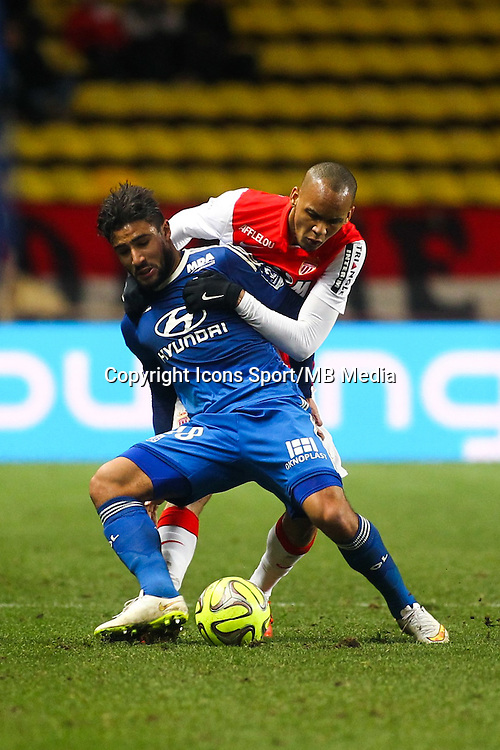FABINHO / Nabil FEKIR - 01.02.2015 - Monaco / Lyon - 23eme journee de Ligue 1 -<br />