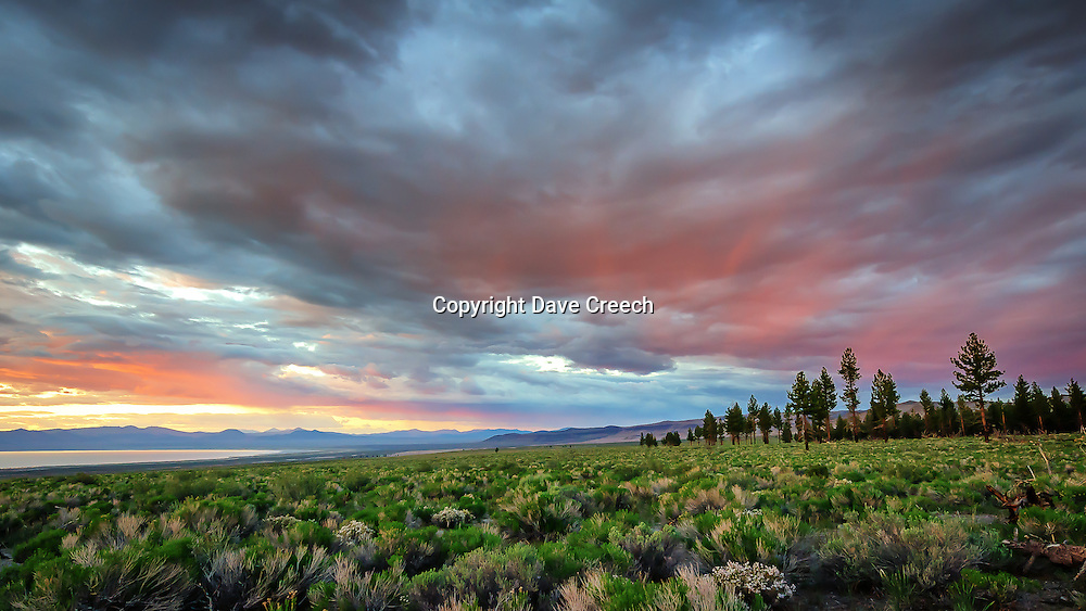 Sunset overlooking Mono Lake