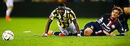 27-02-2016 VOETBAL:VITESSE - WILLEM II:ARNHEM<br /> Lucas Andersen van Willem II in duel met Marvelous Nakamba van Vitesse <br /> <br /> Foto: Geert van Erven