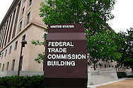 Sign in front of the headquarters okf the Federal Trade Commission in Washington, DC