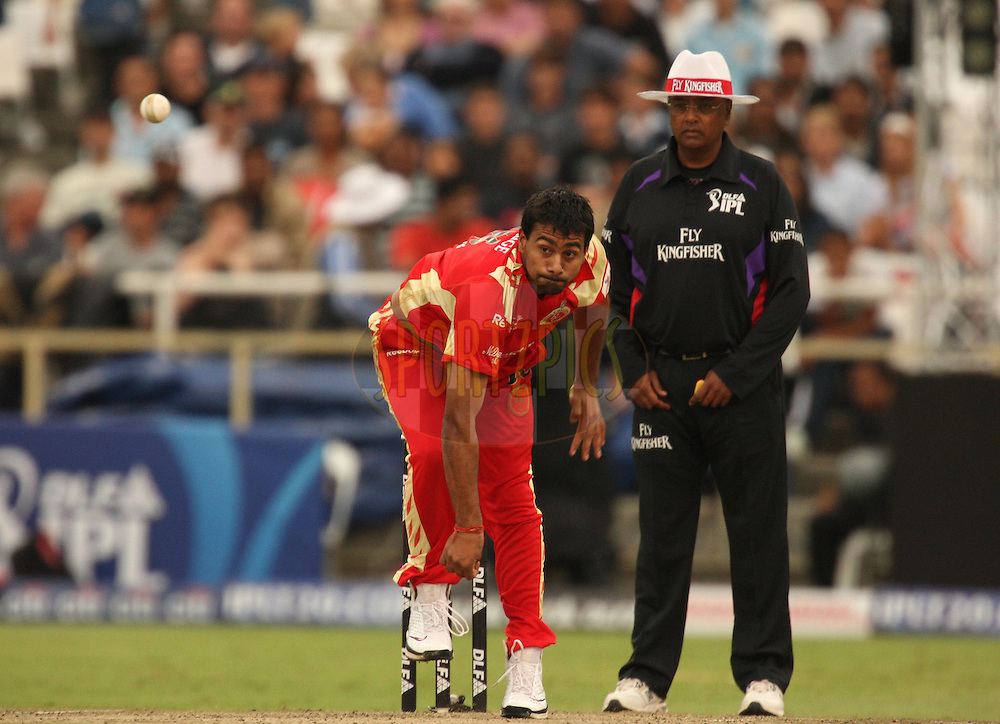 CAPE TOWN, SOUTH AFRICA - 22 April 2009, Praveen Kumar  during the  IPL Season 2 match between the Royal Challengers Bangalore and the Deccan Chargers held at Sahara Park Newlands in Cape Town, South Africa..