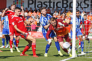 Ross Sykes of Accrington just fails to connect in the box during the EFL Sky Bet League 1 match between Accrington Stanley and Blackpool at the Fraser Eagle Stadium, Accrington, England on 21 September 2019.