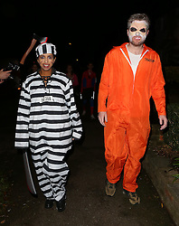 Konnie Huq and Charlie Brooker at Jonathan Ross's Halloween party at his house in London, UK. 31/10/2013<br />BYLINE MUST READ : JAMESY/GOTCHA IMAGES<br /><br />Copyright by © Gotcha Images Ltd. All rights reserved.<br />Usage of this image is conditional upon the acceptance <br />of Gotcha Images Ltd, terms and conditions available at<br />www.gotchaimages.com