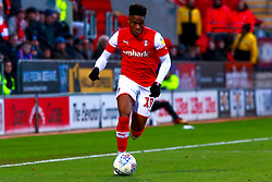 Chiedozie Ogbene of Rotherham United runs on the ball - Mandatory by-line: Ryan Crockett/JMP - 18/01/2020 - FOOTBALL - Aesseal New York Stadium - Rotherham, England - Rotherham United v Bristol Rovers - Sky Bet League One