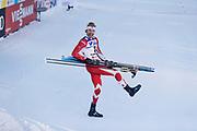 LAHTIS, FINLAND - 5 MARS: Alex Harvey jublar &ouml;ver f&ouml;rstaplatsen under herrarnas 50 km mass start under FIS Nordic World Ski Championships den 5 mars , 2017 i Lahti, Finland. <br /> Foto: Nils Petter Nilsson/Ombrello<br /> ***BETALBILD***