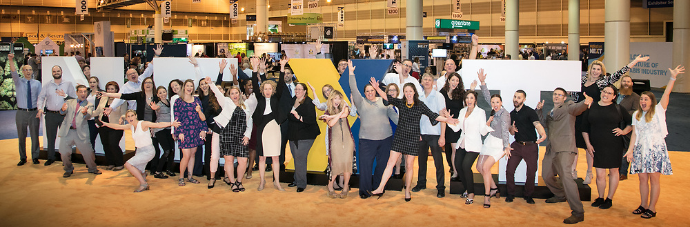 Staff of Marijuana Business Daily's MJBizConNEXT convention and trade show at the New Orleans Morial Convention Center on May 10, 2018; Anne Holland Enterprises