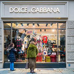 Dolce & Gabbana boutique on famous Kurfurstendamm shopping street in Berlin, Germany.