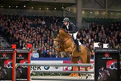 Keunen Pieter, (NED), Entertainer<br /> Springen Klasse Z-ZZ<br /> KWPN Hengstenkeuring - 's Hertogenbosch 2016<br /> © Hippo Foto - Dirk Caremans<br /> 04/02/16