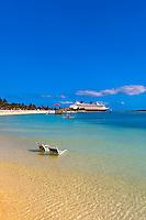 Disney Dream cruise ship docked at Castaway Cay (Disney's private island), The Bahamas