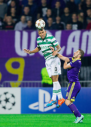 Maurício of Sporting vs Agim Ibraimi of Maribor during football match between NK Maribor and Sporting Lisbon (POR) in Group G of Group Stage of UEFA Champions League 2014/15, on September 17, 2014 in Stadium Ljudski vrt, Maribor, Slovenia. Photo by Vid Ponikvar  / Sportida.com