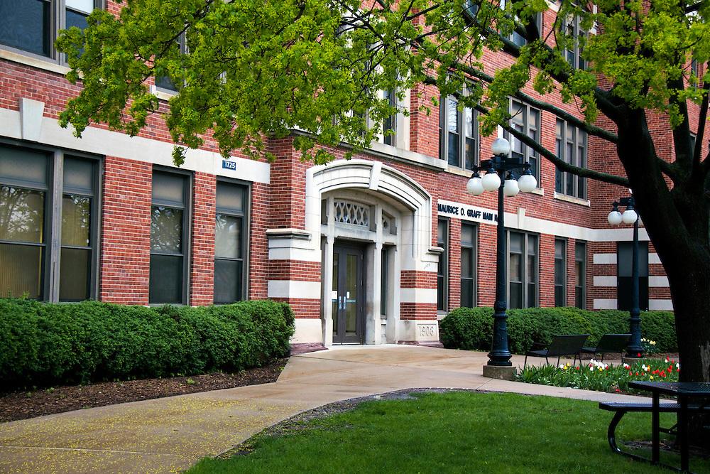 Graff Main Hall. Photo by Pa Moua-Yang. University Communications.