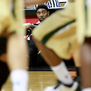 Central Florida guard Marcus Jordan (5) waits to check in during the NCAA basketball game against the USF Bulls at the UCF Arena on November 18, 2010 in Orlando, Florida. UCF won the game 65-59. (AP Photo/Alex Menendez)