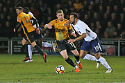 Tottenham Hotspur  Mousa Dembele (19) on the ball during the The FA Cup 4th round match between Newport County and Tottenham Hotspur at Rodney Parade, Newport, Wales on 27 January 2018. Photo by Gary Learmonth.