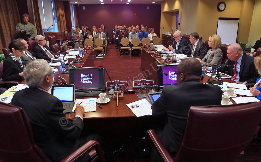 CMU Board of Trustees meet in the University Center on Thursday September 19, 2013.