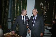 HARRY FANE AND SIR EVELYN DE ROTHSCHILD, Cartier launches Inde Mysterieuse. Lancaster House, Stable yard. St. James's. London SW1. 19 September 2007. -DO NOT ARCHIVE-© Copyright Photograph by Dafydd Jones. 248 Clapham Rd. London SW9 0PZ. Tel 0207 820 0771. www.dafjones.com.