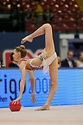 "Eleonora Tagliabue during the ""1st Trofeo Citta di Monza"" tournament. On this occasion we have seen the rhythmic gymnastics teams of Belarus and Italy challenge each other. The Bilateral period was only June 9, 2019 at the Candy Arena in Monza, Italy."