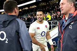Ben Te'o of England celebrates the win over France - Mandatory by-line: Robbie Stephenson/JMP - 04/02/2017 - RUGBY - Twickenham - London, England - England v France - RBS Six Nations