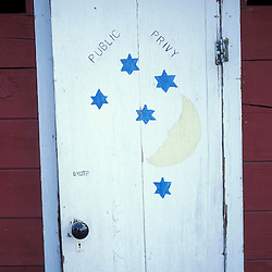 An outhouse in Kennecott, AK.