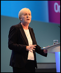 The Leader of the Scottish Labour Party Leader Johann Lamont address The Labour Conference on Day one of the  Party Conference at the Brighton Conference Centre, Brighton, United Kingdom. Sunday, 22nd September 2013. Picture by Andrew Parsons / i-Images