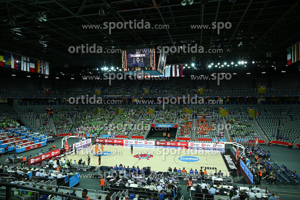 View on arena during basketball match between Slovenia vs Netherlands at Day 4 in Group C of FIBA Europe Eurobasket 2015, on September 8, 2015, in Arena Zagreb, Croatia. Photo by Matic Klansek Velej / Sportida