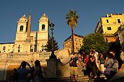 Rome, Italy 101512  Plaza Espana, a famous tourist attraction in Rome. (Essdras M Suarez/ EMS Photography)