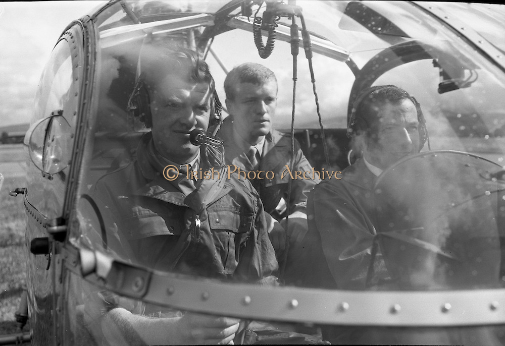 Air Corps. Helicopter Training Course at Baldonnell Aerodrome, Co. Dublin.<br /> 20.08.1963