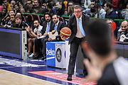 DESCRIZIONE : Campionato 2014/15 Serie A Beko Dinamo Banco di Sardegna Sassari - Upea Capo D'Orlando<br /> GIOCATORE : Giulio Griccioli<br /> CATEGORIA : Allenatore Coach Curiosità<br /> SQUADRA : Upea Capo D'Orlando<br /> EVENTO : LegaBasket Serie A Beko 2014/2015<br /> GARA : Dinamo Banco di Sardegna Sassari - Upea Capo D'Orlando<br /> DATA : 22/03/2015<br /> SPORT : Pallacanestro <br /> AUTORE : Agenzia Ciamillo-Castoria/L.Canu<br /> Galleria : LegaBasket Serie A Beko 2014/2015