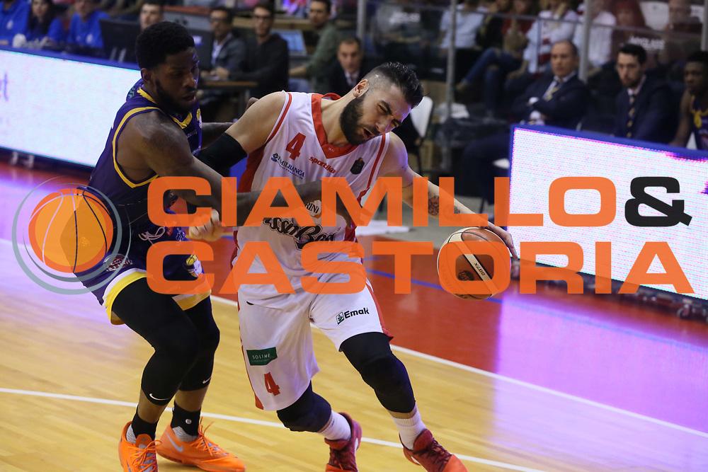 Aradori Pietro<br /> Grissin Bon Reggio Emilia - Fiat Torino<br /> Lega Basket Serie A 2016/2017<br /> Reggio Emilia 15/04/2017<br /> Foto Ciamillo-Castoria